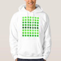 Green Stripes Polka Dots Pattern Hoodie