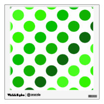 Green Stripes Polka Dots Pattern Wall Sticker