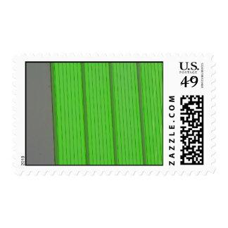 green stripes stamp