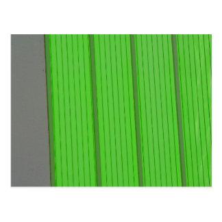 Green Stripes Postcard