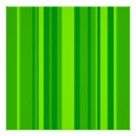 Green Stripes Poster