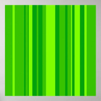 Green Stripes Poster