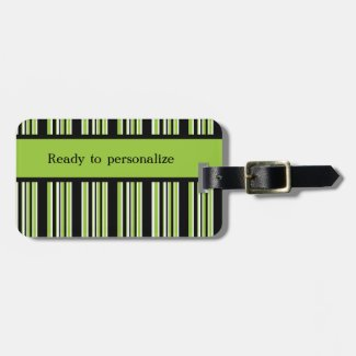 Green Stripes Ready to Personalize