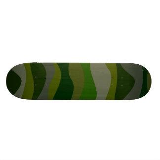 Green stripes skate board