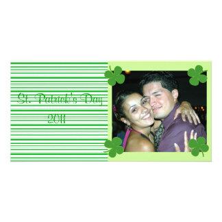 Green Stripes St. Patrick's Photo Card