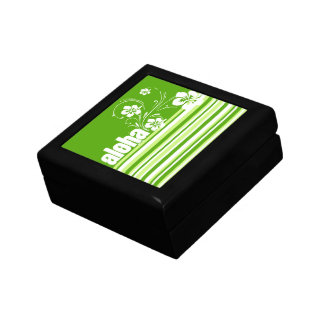 Green Stripes; Striped; Aloha Gift Boxes