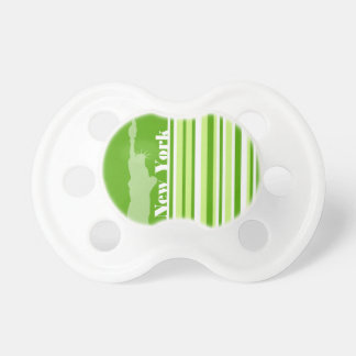 Green Stripes Striped New York Pacifier