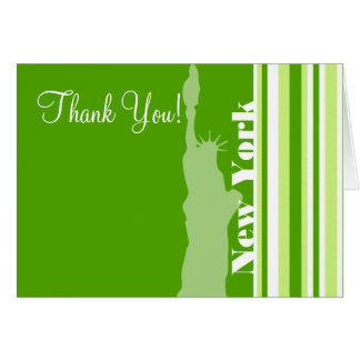 Green Stripes; Striped; Statue of Liberty Card