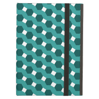 "Green ""Stripes"" Tiled Tessellation Pattern Cover For iPad Air"