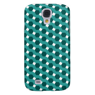 "Green ""Stripes"" Tiled Tessellation Pattern Galaxy S4 Cover"