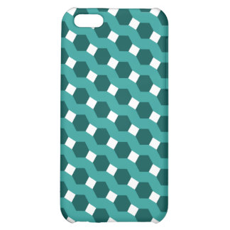 Green Stripes Tiled Tessellation Pattern Cover For iPhone 5C