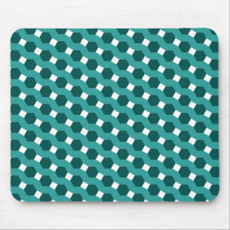 """Green """"Stripes"""" Tiled Tessellation Pattern Mouse Pad"""