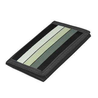 Green Stripes Trifold Wallet