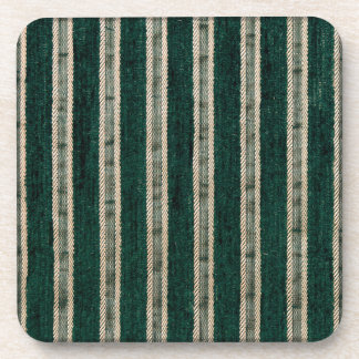 Green stripes upholstery fabric coaster