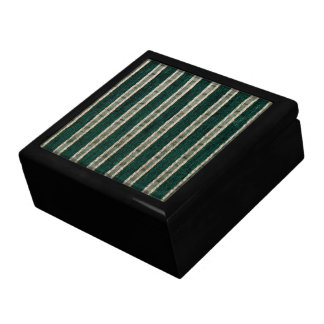 Green stripes upholstery fabric jewelry boxes