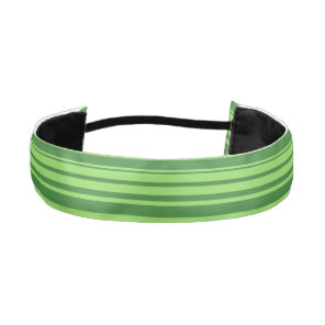 Green Stripes Watermelon Skin Athletic Headband