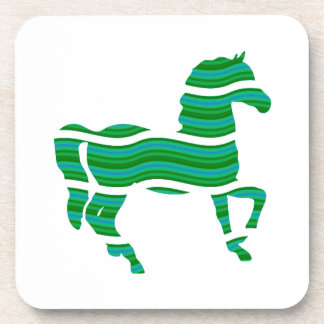 Green stripped Thoroughbred Coaster