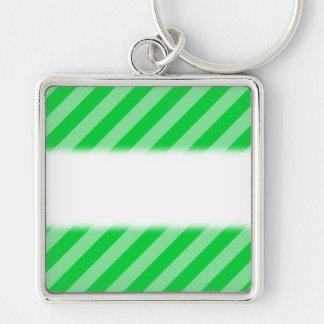 Green Stripy Pattern. Key Chain
