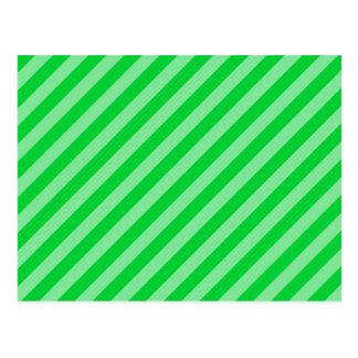 Green Stripy Pattern. Postcard