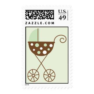 Green Stroller Postage Stamp