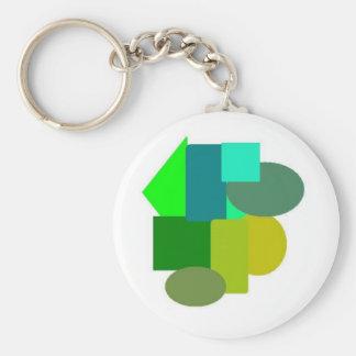 green stuff 2 basic round button keychain