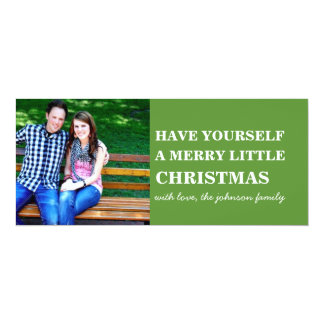 Green Style Photo Christmas Flat Cards