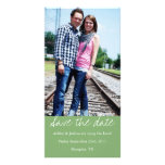 Green Style Save The Date Photo Cards