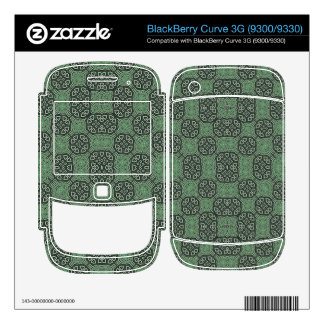 Green Stylish Abstract Pattern BlackBerry Decals