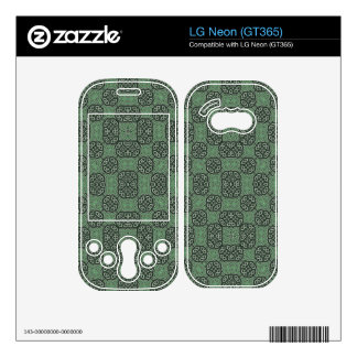 Green Stylish Abstract Pattern Skin For LG Neon