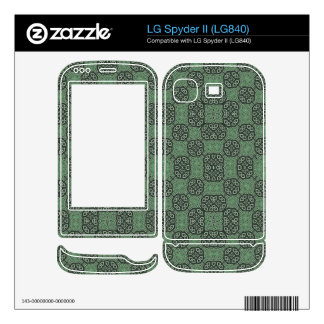 Green Stylish Abstract Pattern LG Spyder II Decal