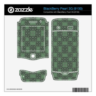 Green Stylish Abstract Pattern BlackBerry Pearl Skins