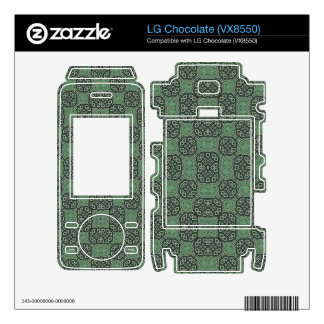 Green Stylish Abstract Pattern Skin For The LG Chocolate