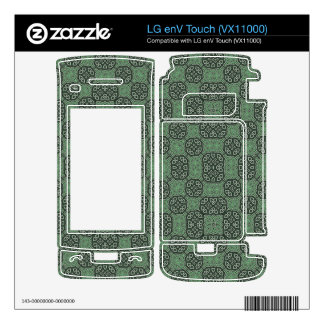 Green Stylish Abstract Pattern Skin For The LG enV Touch