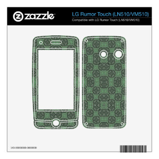 Green Stylish Abstract Pattern Decals For LG Rumor Touch