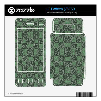 Green Stylish Abstract Pattern Skin For LG Fathom