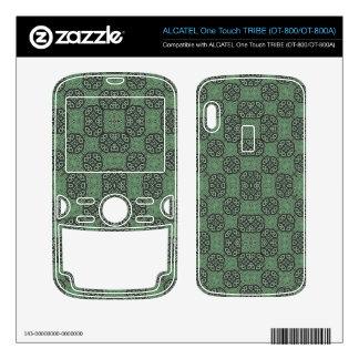 Green Stylish Abstract Pattern ALCATEL Tribe Skins
