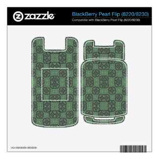 Green Stylish Abstract Pattern Skin For BlackBerry