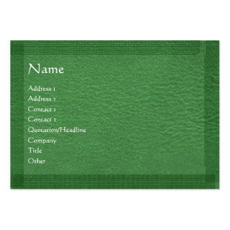 Green Stylish Border n Surface Large Business Card