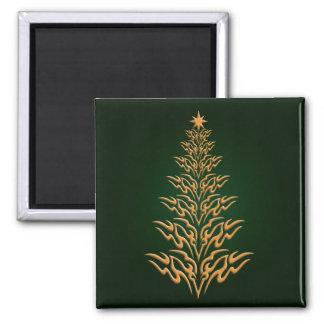 Green Stylish Christmas Tree Magnet