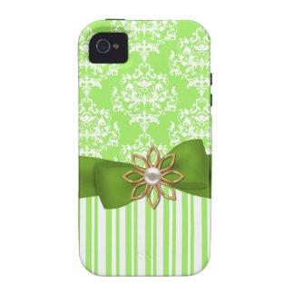 Green Stylish Damask iPhone Case Vibe iPhone 4 Case