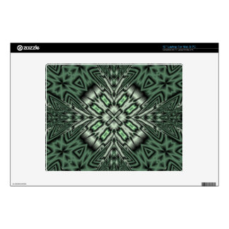 Green stylish pattern decals for laptops