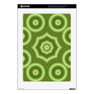 Green Stylish pattern PS3 Skins
