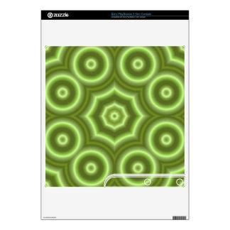 Green Stylish pattern PS3 Slim Skin