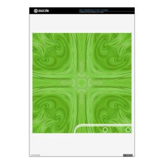 Green stylish wood pattern PS3 slim decal
