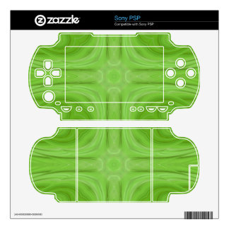 Green stylish wood pattern skin for the sony PSP