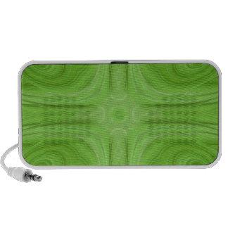 Green stylish wood pattern speakers