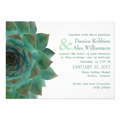 Succulent Wedding Invitations Gangcraft