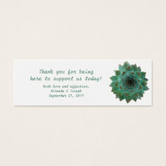 Green Succulents Custom Wedding Favor Tags at Zazzle