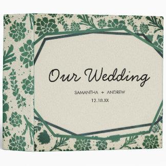 Green Succulents in Natural Wedding Photo Album Binder