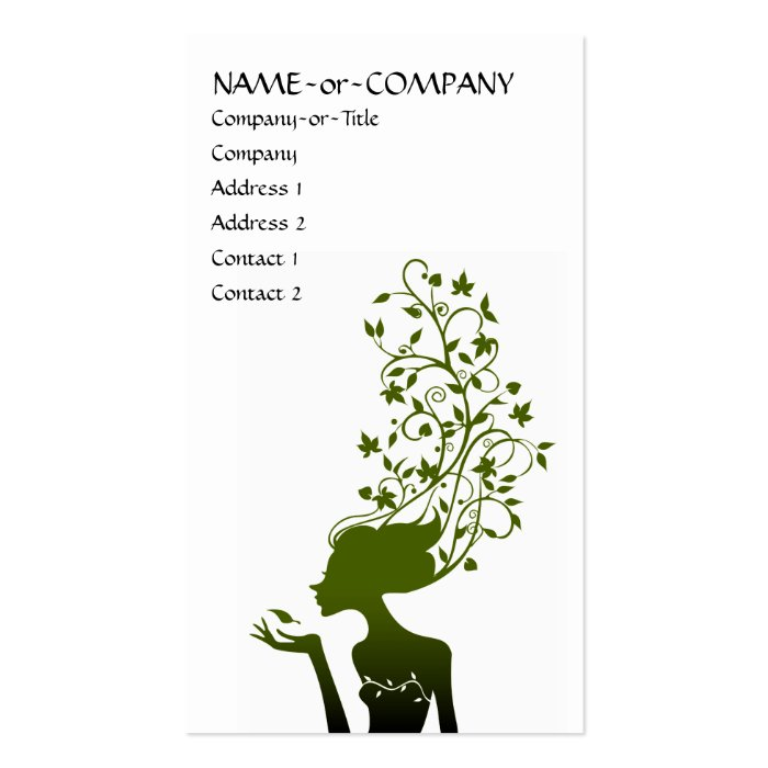 green sugar business card
